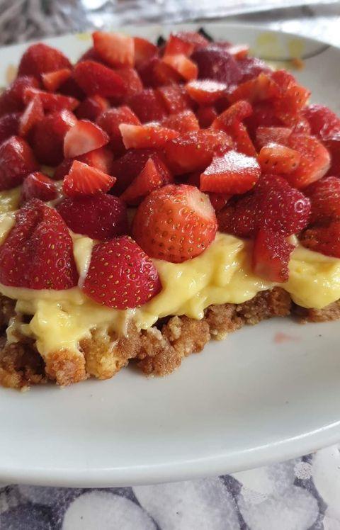 tarte aux fraises palet breton